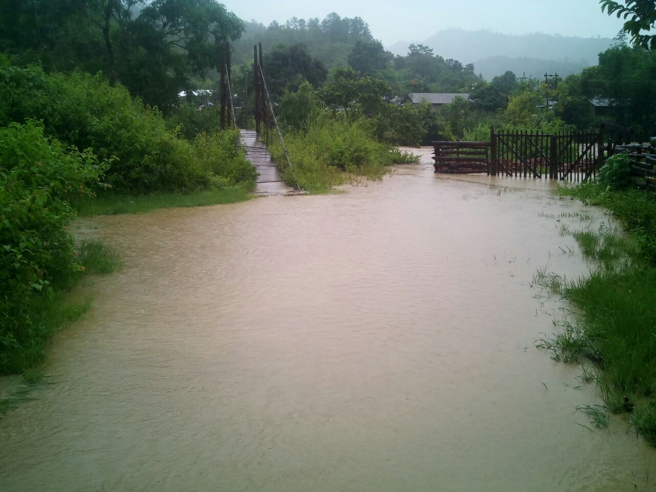 Flood in Chandel