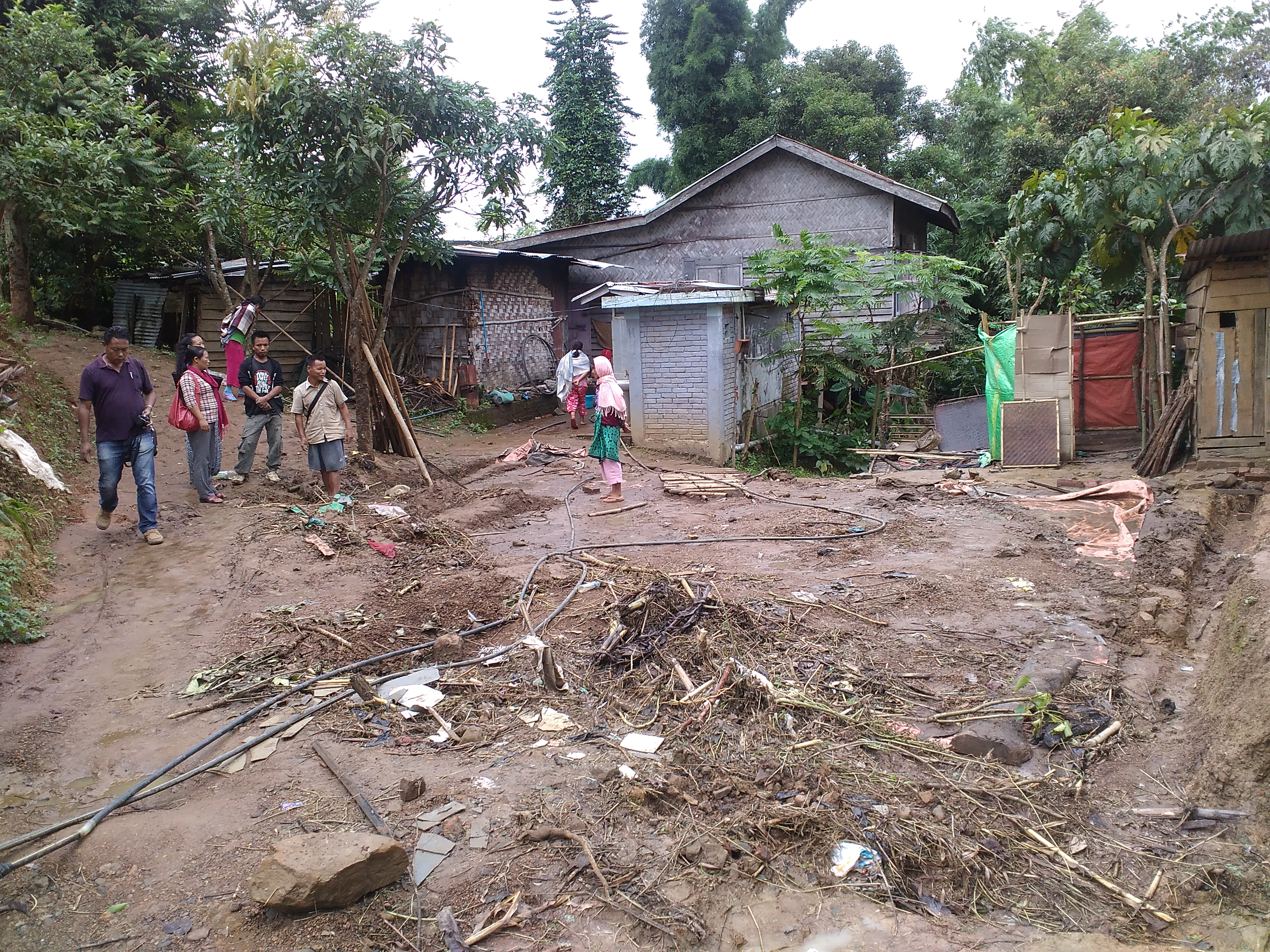 House washed away by flash flood in Churachandpur