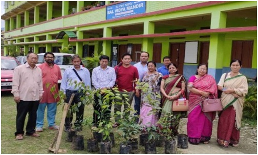 Tree sapling plantation programme held at Bal Vidya Mandir Complex, Palace Compound