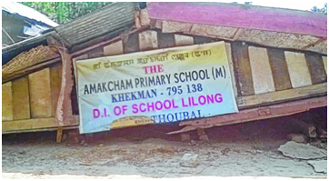 Earthquake affected school