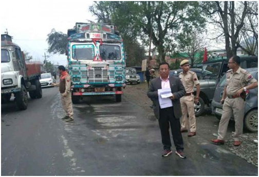 Th Shyamkumar seizes 9 trucks