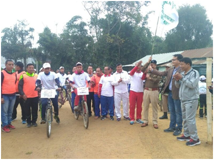 cycle rally was flagged off Thoubal district Superintendent of Police K.Meghachandra