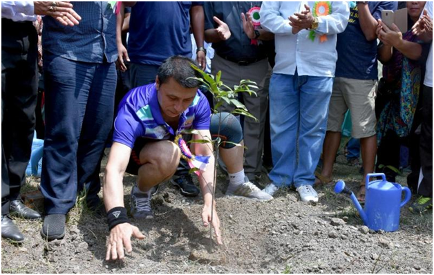 Over 50,000 saplings planted on World Environment Day : with Education Minister Thokchom Radheshyam