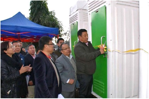 Imphal city has Mobile Bio Toilets