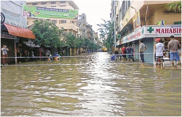 Rivers in spate, many localities flooded